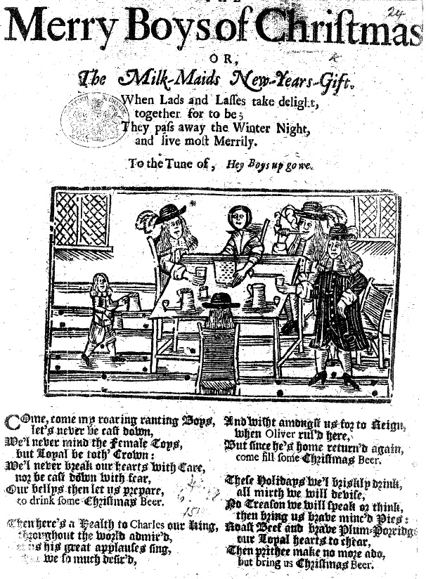 Title: The merry boys of Christmas, or The milk-maids new-years-gift. Date: 1660 Reel position: Tract Supplement / A6:2 24
