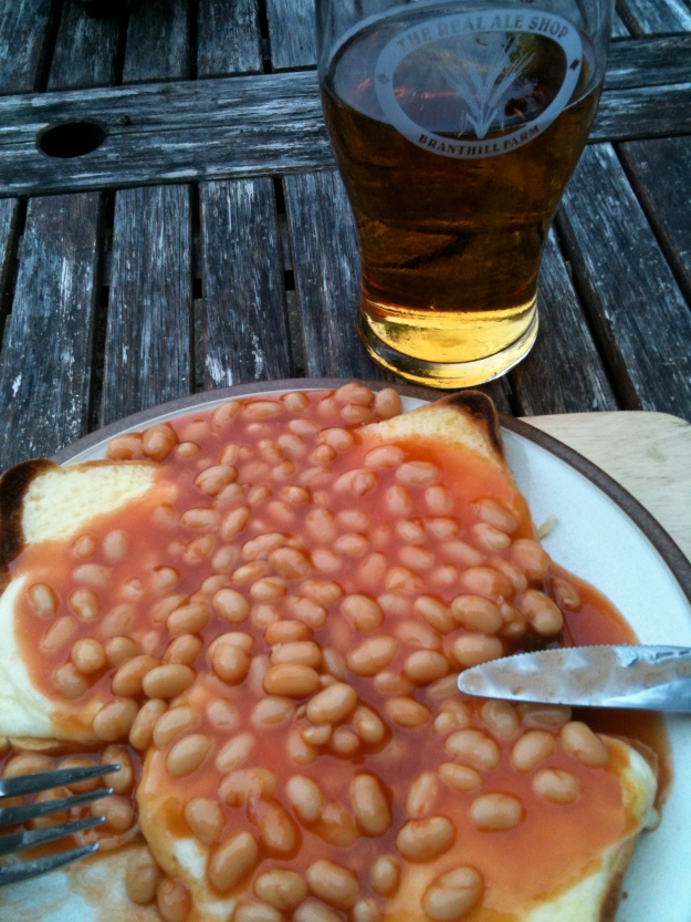 The aforementioned, cheese on beans on toast.